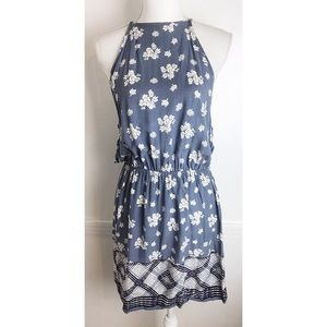Sweet Rain • Blue Floral Fit and Flare Dress